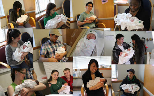 Can Visitors See a Newborn Baby in the Hospital - Lots of Visitors