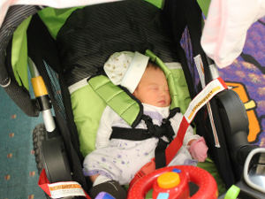 My Newborn Sleeps in Her Stroller