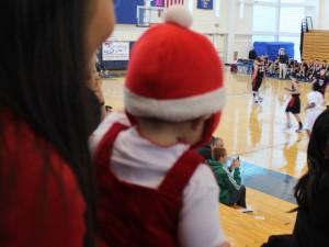 Baby Watching Live Basketball