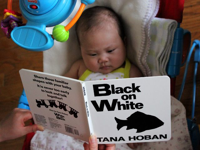 Black on White by Tana Hoban - Baby Book Review - Front Cover