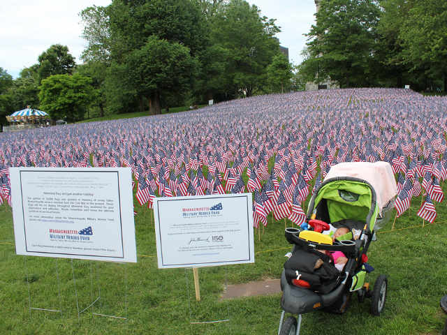 Memorial Day at Boston Common - Stroller by Signs