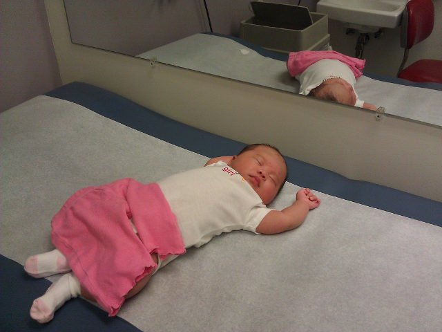 One Month Visit to the Pediatrician - Sleeping