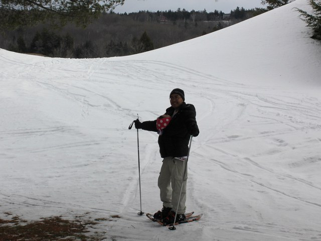 Snowshoeing With Baby