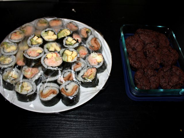 Sushi and Brownies