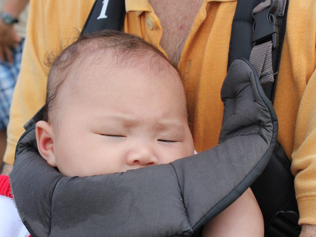 Taking Baby to Fort Independence - Sleeping